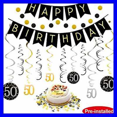 50Th Birthday Decorations Kit For Men Women 50 Years Old Party NO ASSEMBLY REQ