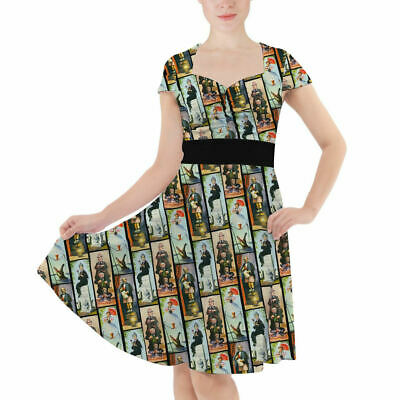 Haunted Mansion Stretch Paintings Sweetheart Midi Dress