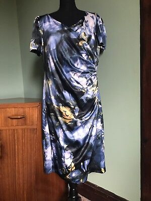 Michaela Louisa Size 20 Wedding Guest Mother Of The Bride Outfit  Dress Blue