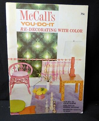 VINTAGE 1968 - McCall's YOU-DO-IT Re-Decorating with color booklet