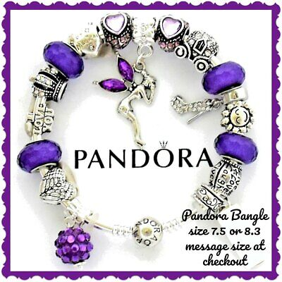 """Authentic Pandora Bracelet Silver with 17 Disney """"Be Magical"""" Charms European"""