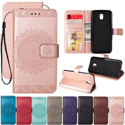 For Samsung Galaxy J7 J5 J3 A7 A6 Wallet Leather Card Flip Stand TPU Case Cover