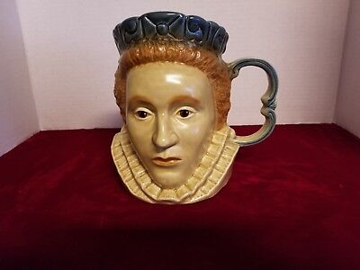 Kingston Pottery Queen Elizabeth I Toby Jug Made In England