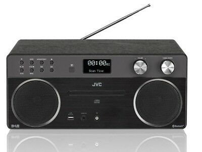 JVC RD-D90 Wireless Hi-Fi System Output 40W Bluetooth USB DAB CD Black