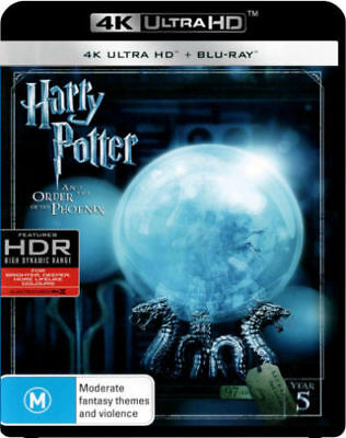 Harry Potter and the Order of the Phoenix (4K HDR + Blu-Ray) Region B - New