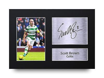 Scott Brown Gift Signed A4 Printed Autograph Print Celtic Scotland Gifts Photo