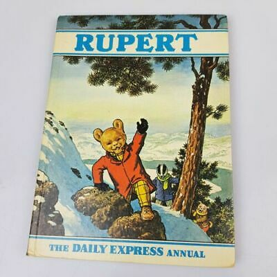 Vintage 1970 Rupert The Bear Daily Express Annual - Clipped Children's Book