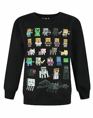 Minecraft Sprites Boys Black Sweatshirt Kids Black Sweater