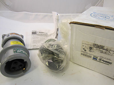 Appleton Arc3033Bc  New In Box 30 Amp  Connector  3W 3P   Mates With Acp3033Bc