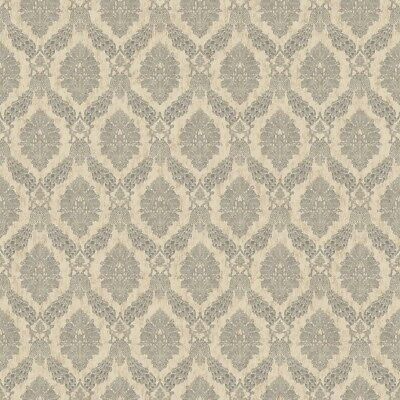 York Wallcoverings HO3304 Peacock Damask Wallpaper, Tailored Collection, Beige