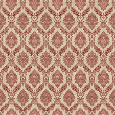 York Wallcoverings HO3307 Peacock Damask Wallpaper, Tailored Collection, Red