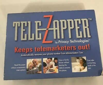 Tele Zapper By Privacy Technologies Keep Telemarketers Out