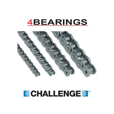 BRITISH STANDARD 04B to 16B SIMPLEX ROLLER CHAIN - 1 & 2 METRE LENGTHS + LINKS