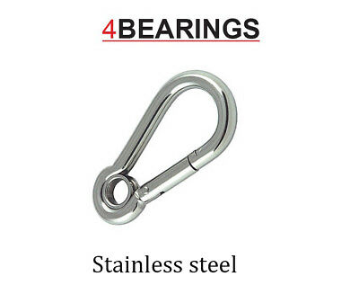 Stainless Steel Snap Hook With Eye Carbine Hook Climbing/Hiking *Please Choose*