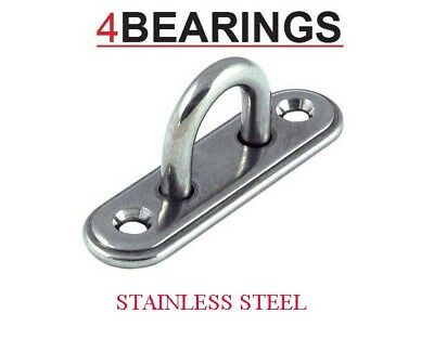 Stainless Steel Pad Eye Deck Oblong Plate ****Please Choose Size****
