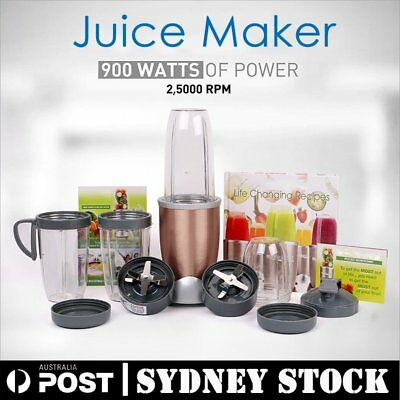 11Pcs Juicer Mixer Extractor Fruit 945ML Vegetable Blender 900W Gold  Genuine @