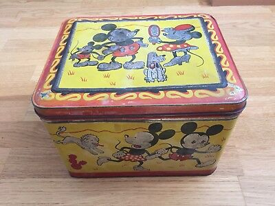 Micky Maus Mickey Mouse Tin Can 1930s Schweiz Blechdose Rar!