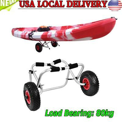 New Aluminium Alloy Kayak Canoe Wheel Dolly Boat Carrier Trolley Cart Transport