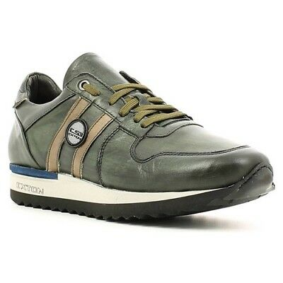 SCARPE UOMO EXTON SNEAKERS 100% PELLE MADE IN ITALY INVERNO offerta VERDE d22596db847