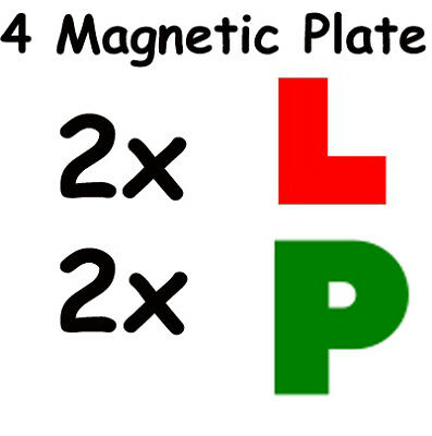 Learner Driver 2 L and 2 P Plates Magnetic Learner Plates Green P Car Bike