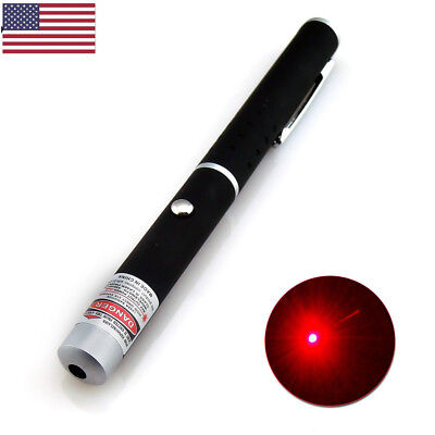 Portable AAA Red Laser Pointer Pen 650nm Visible Beam Light Pet Cat Toy Lazer US