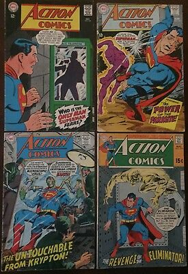 DC ACTION COMICS SUPERMAN LOT OF 4! #355, 361, 364 & 379. 7.0 FN/VF Condition!
