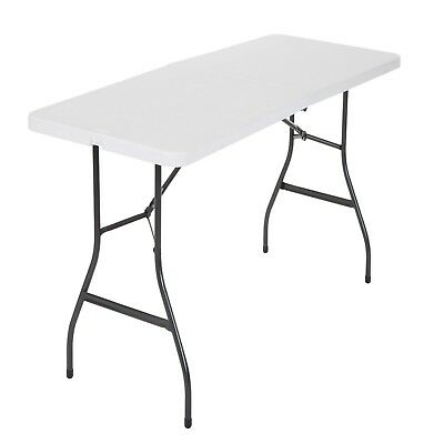Cosco Centerfold Folding Table Home 6 Foot Portable Office Plastic Party White