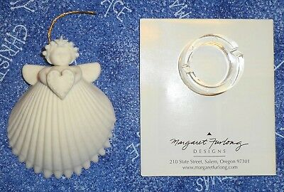 Angel Shell with Heart Ornament by Margaret Furlong 1994 with Original Box