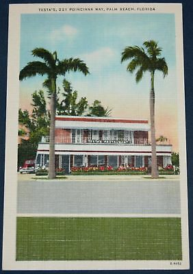 Testa's Restaurant, Palm Beach, FL Postcard
