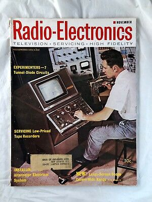 RADIO-ELECTRONICS MAGAZINE VINTAGE Issue November 1962 Television Servicing  HiF