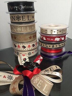 Berisfords Christmas Ribbon ~ Sold By The Metre