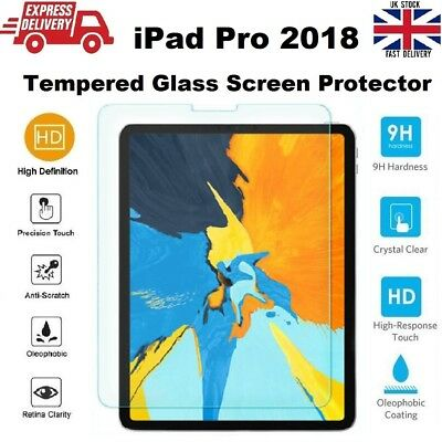 Anti Scratch 9H Hardness Tempered Glass Protector for iPad PRO (2018) 11 inches