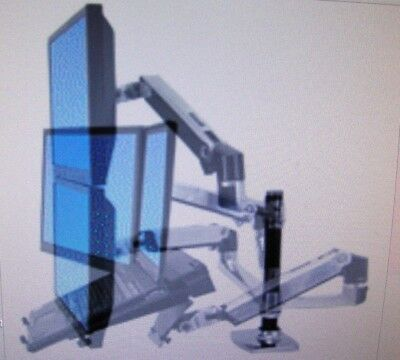 new ergotron 45 245 026 lx dual side by side arm complete in