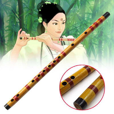 7ADA Beginner F Key Bamboo Flute Pluggable Chinese Wind Instrument With Red Stri