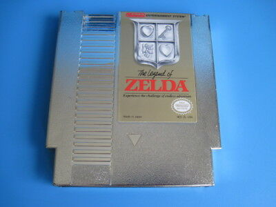 Legend of Zelda Nintendo NES Game Gold  *Authentic & Saves*  Very Nice Looking