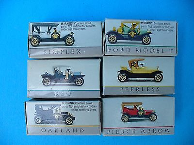 Wondrie Metal Products Miniature Replicas of Vintage Early 1900's Cars- In Boxes