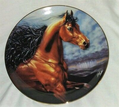 """Vintage 1993 The Danbury Mint - Noble and Free """"Chosen Champion"""" Horse Plate"""