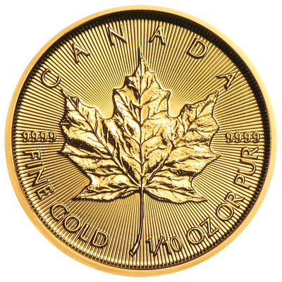 Lot of 20 - 2019 $5 Gold Canadian Maple Leaf .9999 1/10 oz Brilliant Uncirculate