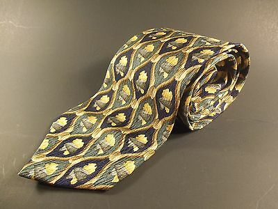 COCKTAIL COLLECTION Mens Neck Tie Gold Green Black/Navy 100% Silk