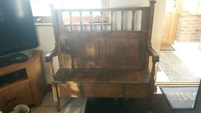 Antique oak monks bench/settle
