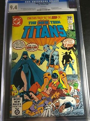 1980 DC The New Teen Titans #2 CGC 9.4 WP 1st Appearance of Deathstroke