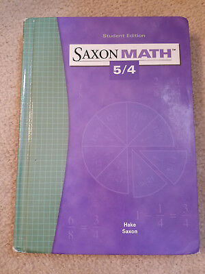 Saxon Math 5/4 Textbook Student edition 3rd 2004