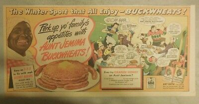 Aunt Jemima Pancakes Ad: Perk Up Yo' Family! Buckwheats from 1930-1940's