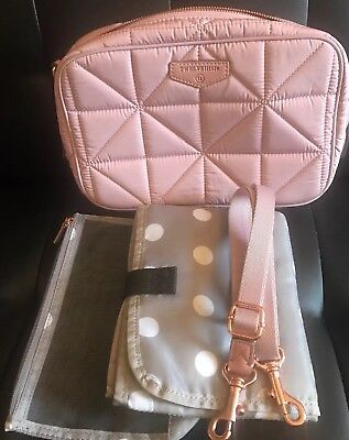 Twelvelittle Diaper Clutch Blush Pink Bag Crossbody Diapering Purse Small