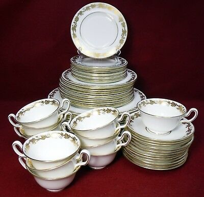 WEDGWOOD china WHITEHALL W4001 pattern 60-piece SET SERVICE for 12