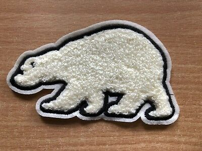 1 Polar Bear Towel Embroidery Clothing Sew On Patch Applique