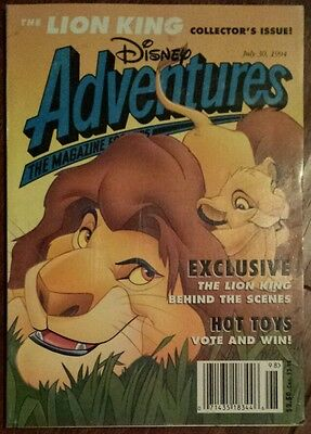 The Lion King Disney Adventure Magazine July 30, 1994 collector's issue!