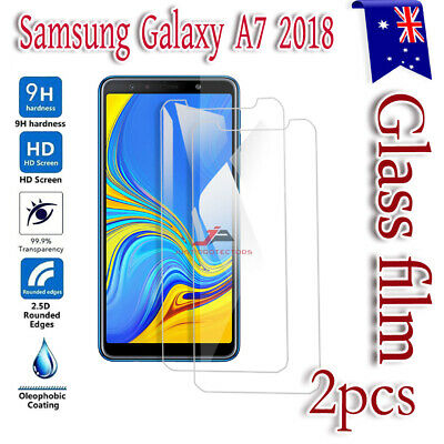 "2X Samsung Galaxy A7 2018 6.0"" Tempered Glass LCD Screen Protector Guard"