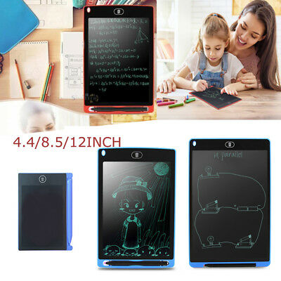 4.4/8.5/12inch Kids LCD Writing Tablet Drawing Memo Message Black Board