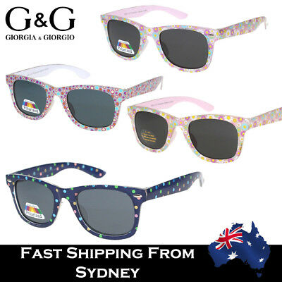 G&G Kids Fashion Colorful Wayfare Style Sunglasses Boy Girls Dots Flower Pol Ava